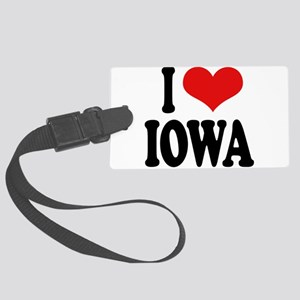 iloveiowablk Large Luggage Tag